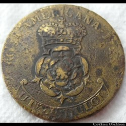 monnaie monde irlande 1723 rosa america two pence 1722 1723