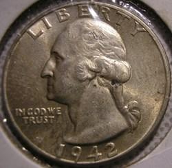 1942 Quarter Dollar (ex.2)
