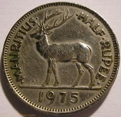 Elizabeth II - 1/2 Rupee 1975 - Mauritiu...