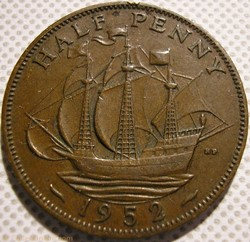 George VI - Half Penny 1952 - UK