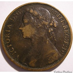 Victoria - One Penny 1877 - Kingdom of Great Britain