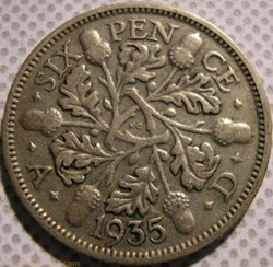 George V - 6 Pence 1935 - Great Britain