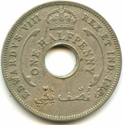 Edward VIII - One HalfPenny 1936 - West ...