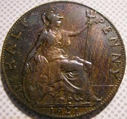 George V - Half Penny 1921 - United King...