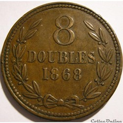States of Guernsey - 8 Doubles 1868