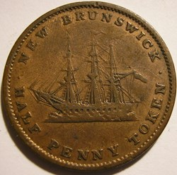 Victoria - Half Penny 1843 - New Brunswi...