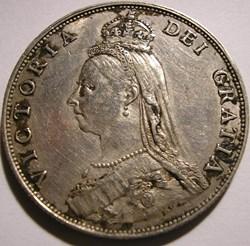 Victoria - Jubilee One Florin, 1887 - Ki...