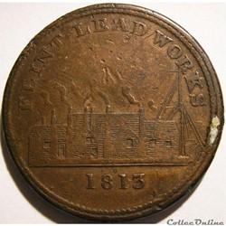 1813 One Penny - Flint Lead Works - Flin...