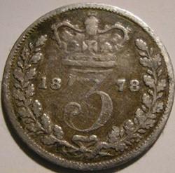 Victoria - 3 Pence 1878 - Kingdom of Gre...