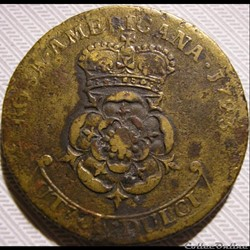 1723 Rosa America - Two Pence - George I...