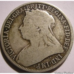 Victoria - One Florin 1896 - Kingdom of Great Britain