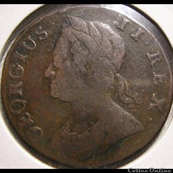 George II - Half Penny 1744 Great Britain