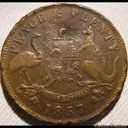 1857 Penny Token, Marine Store - Melbourne, Australia