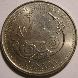 Elizabeth II - 25 Cents 2000 Achievement...