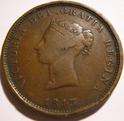 Victoria - One Penny 1843 - New Brunswic...