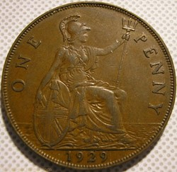 George V - One Penny 1929 - Great Britai...