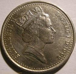 Elizabeth II - 10 Pence 1992 - UK