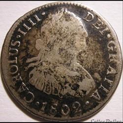 Peru - 2 Reales 1802 Lima - Carlos IV de España