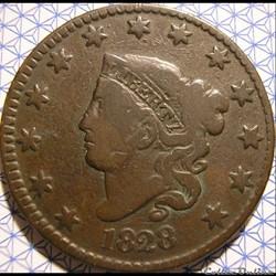 1828 One Cent (ex.2)