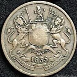 East British India Company - Half Anna 1835 - William IV GB.