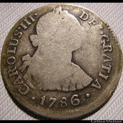 Peru - 2 Reales 1786 Lima - Carlos III de España