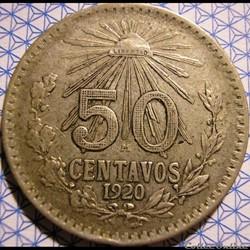 México - 1920 - 50 Centavos - Estados Un...