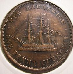 Victoria - One Penny 1854 - New Brunswic...