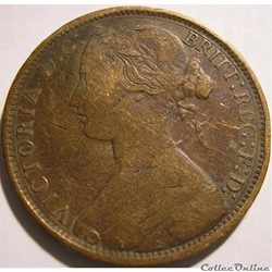 Victoria - One Penny 1874 H - Kingdom of Great Britain