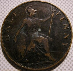 Edward VII - Half Penny 1907 - Great Bri...