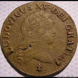 Louis XV - Demi-Sol  de 6 Deniers 1720 S au Buste Enfantin
