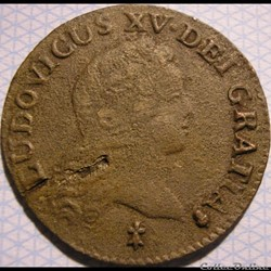 Louis XV - Demi-Sol  de 6 Deniers 1720 S...