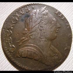 1775 Half Penny No Regal - George III of Great Britain (Ex.5)