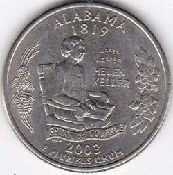 2003 D Quarter Dollar - Alabama State
