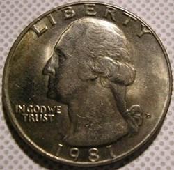 1981 D Quarter Dollar