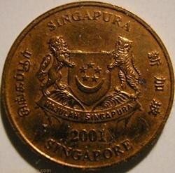 Singapore - 1 Cent 2001