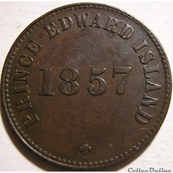 Prince Edward 1857 - HalfPenny Token Self Government
