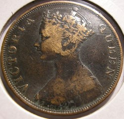 Victoria - One Cent 1866 - Hong-Kong (ex...