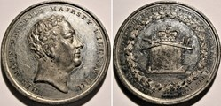 William IV - 1830 Coronation Medal Great...