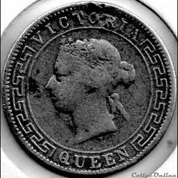 Victoria - 50 Cents 1892 British Ceylon