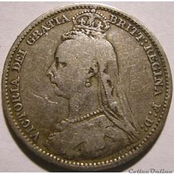 Victoria - Sixpence 1890 Kingdom of Grea...
