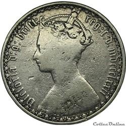 monnaie monde royaume uni victoria one florin 1877 kingdom of great britain
