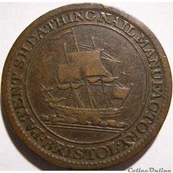 1811 HalfPenny Patent Sheathing Nail Manufactory - Bristol