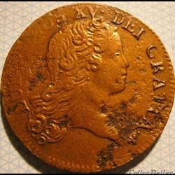 Louis XV - Sol de 12 Deniers 1719 A Buste Enfantin