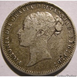 Victoria - Sixpence 1877 Kingdom of Grea...