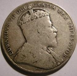 Edward VII - 50 Cents 1909 Newfoundland ...