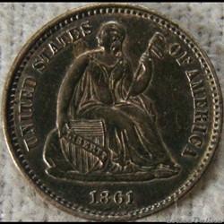 1861 Half Dime (ex.2)
