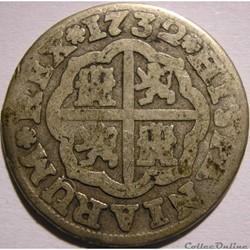 1732 Sevilla - 1 Real - Felipe V de Espa...