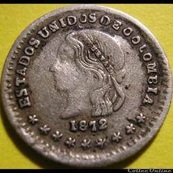 1/2 Decimo 1872 Medellin