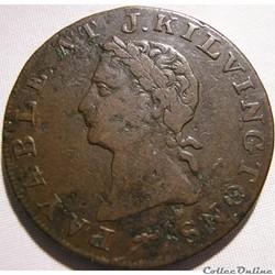1795  J. Kilvington HalfPenny - Middlesex