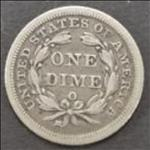 Dimes Seated Lib. (1837-1891) 10 Cents USA